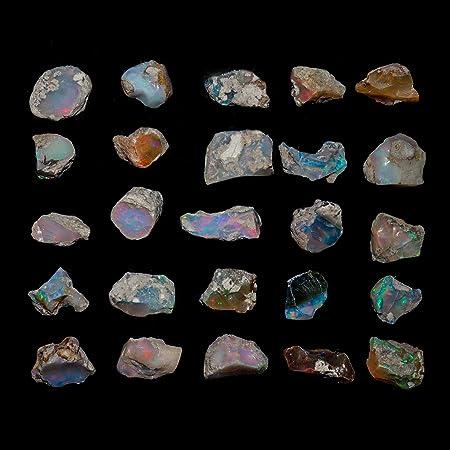 InfinityGemsArt 30 Quilates Cristales primas Naturales de etiopía ópalo de Fuego de Las Piedras Preciosas primas para la joyería Que Hace los Cristales curativos Octubre Birthstone Opal Rough