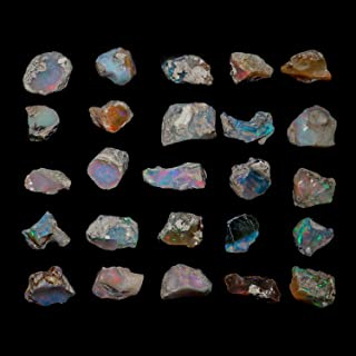 InfinityGemsArt 30 Quilates Cristales primas Naturales de etiopía ópalo de Fuego de Las Piedras Preciosas primas para la j...