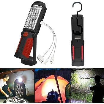 Solar Taschenlampe LED Magnet USB Aufladbar Polizei Arbeitsleuchte Flashlight DE