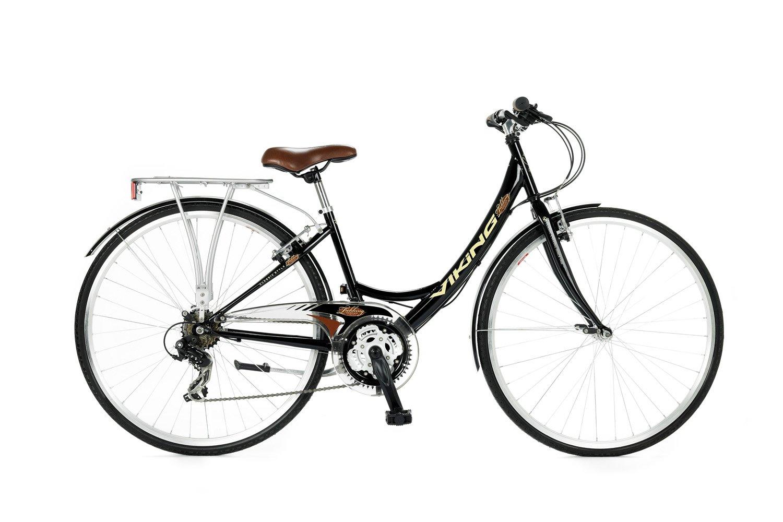 Viking - Bicicleta híbrida para Mujer, Talla S (156-163 cm), Color ...