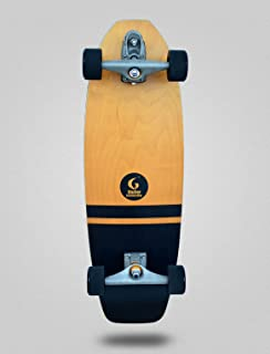 Glutier Surfskate with T12 Surf Skate Trucks. Flam...