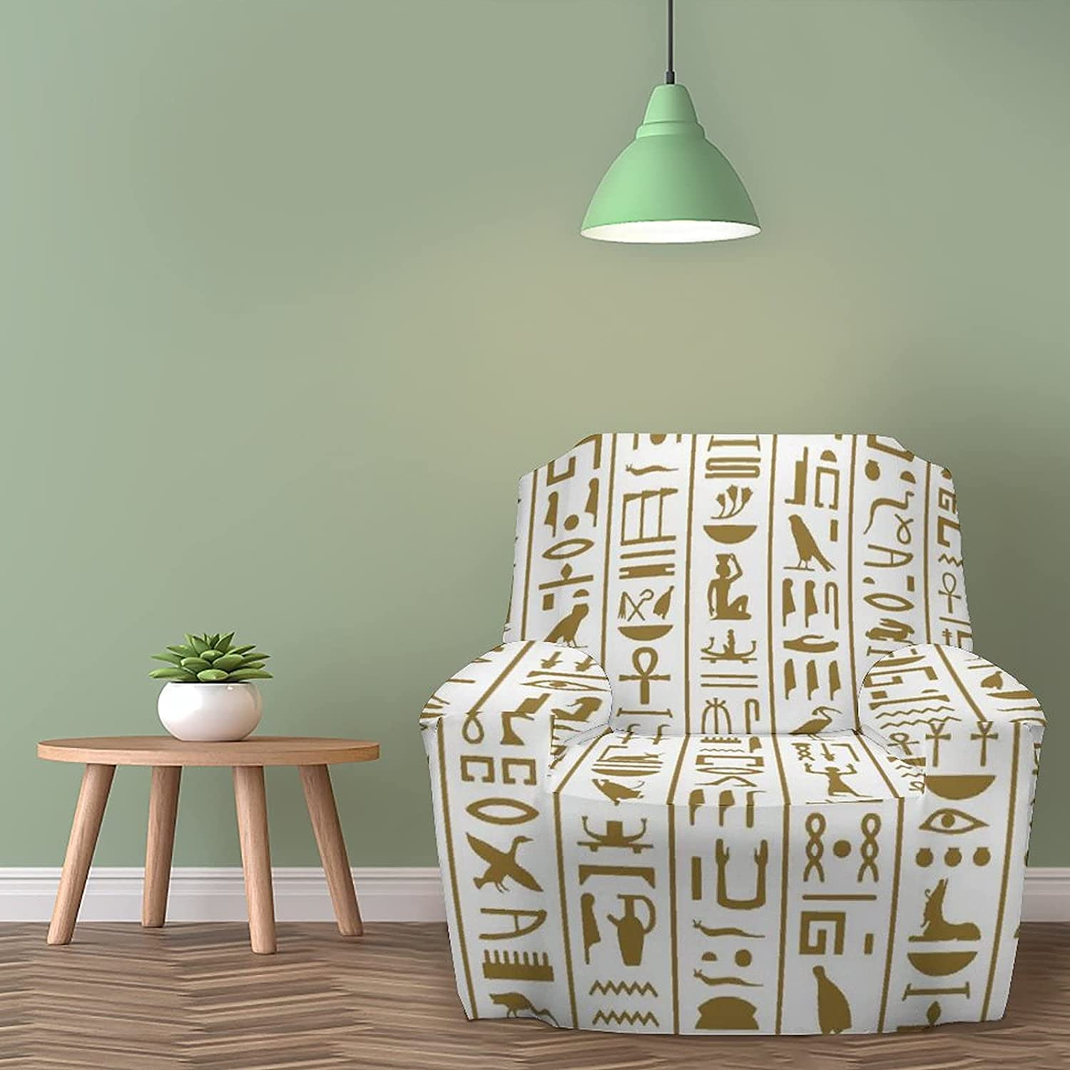 Armchair Covers Ancient Egyptian Hieroglyphs Sl Max 67% OFF Pattern Latest item