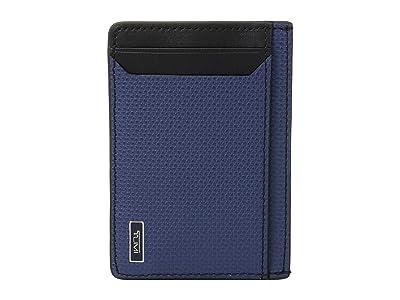 Tumi Monaco Money Clip Card Case (Navy) Credit card Wallet
