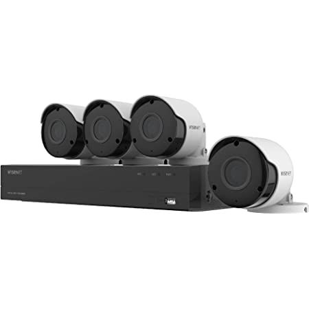 Renewed Samsung Wisenet SNK-B73040BW 4 CH 1080p Full HD NVR Video Security System with 1TB Hard Drive and 4 1080p Wireless Weather Resistant Bullet Cameras SNC-79440BW