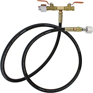 CO2 Gas Refill Station – Hose with 1/4in Fittings & Dual Valve – Fill Beer Brew Keg, Aquarium, Welding Tank Refiller