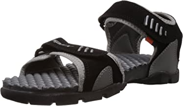 Sparx Men's SS-103 Black and Grey Athletic and Outdoor Sandals