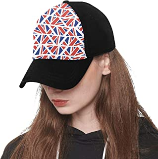 Front Panel Custom Flag Country Flag Retro Vintage Design Printing Baseball Hat Adjustable Size Curved Cap for Hip-hop Sports Summer Beach Outdoor Activities Unisex
