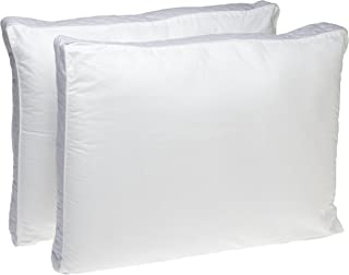 Perfect Fit | Gusseted Quilted Pillow Hypoallergenic, 233 Thread-Count, Standard, 2 (Side Sleeper)