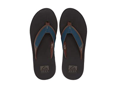 Reef Fanning Low (Navy/Brown) Men