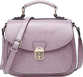 Leather Handbags for Women Vintage Messenger Bag Crossbody Shoulder Bag