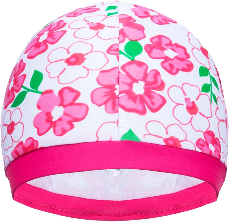 Balnna 2 Cute Butterfly Girl Swim Cap and Kid Sun Hat(Not Waterproof)