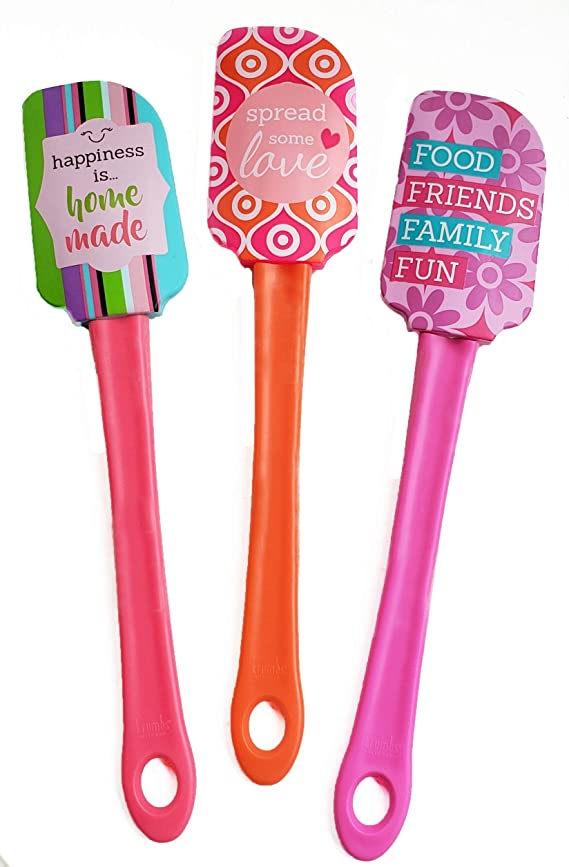 Kitchen Fun Expression Spatulas 3 Pack - Stocking Stuffers