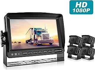 HD Backup Camera System Kit,7''1080P Reversing Monitor+IP69 Waterproof Rear View Camera,Sharp CCD Chip, 100% Not Wash Up,Truck/Semi-Trailer/Box Truck/RV (FHD4-Wired)
