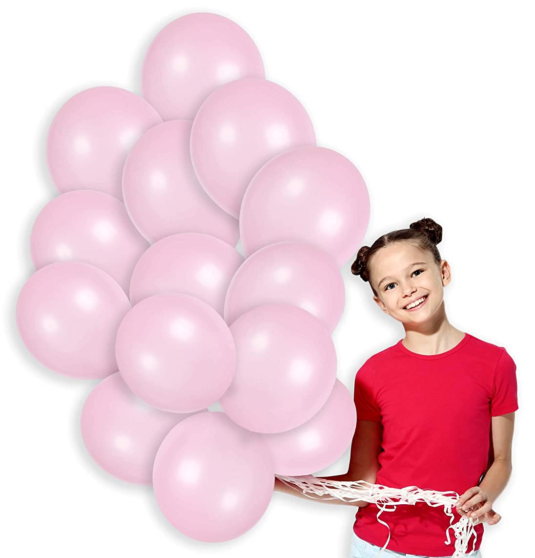 Light Pink Metallic Pastel Balloons Kit Decorations for Unicorn Birthday Girls Baby Shower Party Balloons Arch (100 Pack)