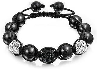 Bracelet Homme Styleshamballa Cuir VÉritable Perles Pierre Naturelle Obsidienne Beads & Jewelry Making Bracelets