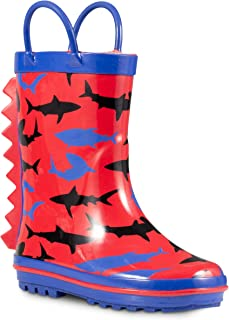 ZOOGS Children's Rubber Rain Boots, Little Kids & Toddler, Boys & Girls Patterns