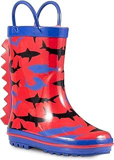 ZOOGS Children's Rubber Rain Boots, Little Kids & Toddler, Boys & Girls Patterns
