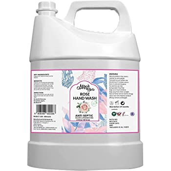 Mirah Belle - Rose Hand Wash Can (2 LTR) - FDA Approved - Bulk Pack for Refill - Best for Men, Women and Children - Sulfate and Paraben Free - 2000 ML