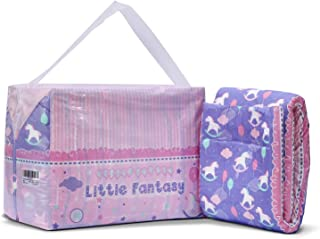 Littleforbig Printed Adult Brief Diapers Adult Baby Diaper Lover ABDL 10 Pieces - Little Fantasy(M)