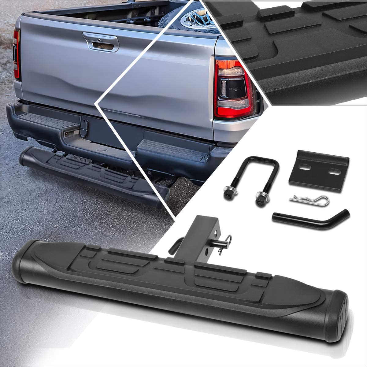 Steel Trailer Towing Lowest price challenge Hitch Step Boston Mall Fits Receiver Rear Bump Inches 2