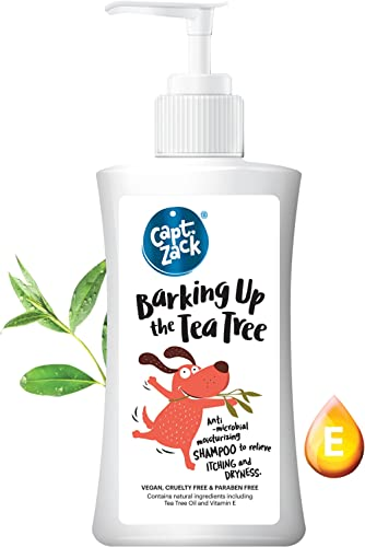 Captain Zack Barking Up The Tea Tree – Anti-Fungal, Anti-Bacterial & Anti-Dandruff Dog Shampoo, Relieves Itching, Par...
