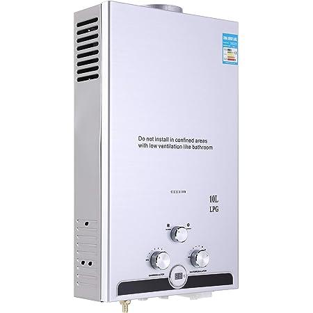 Ridgeyard 8L 2 GPM Gas Natural Instantáneo Calentador de agua ...