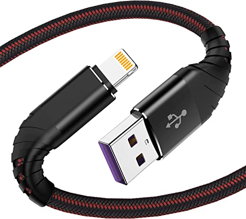 Câble pour iPhone 0.3m, [MFi Certified] Lot de 2 Cable USB iPhone, Cordon iPhone Tressé en Nylon, Fil Lightning Charg...