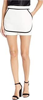 BCBGeneration Women's CONTRAST SHORT Shorts, Optic White