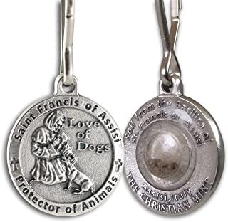 The Christian Mint, LLC St. Francis of Assisi Pet Medal with Capsule of Assisi Soil