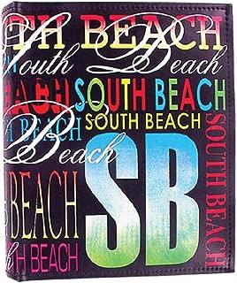 Rockin Gear Photo Album South Beach Large Leather Neon Signature Photo Album Holds 200 Pictures 4 X 6 Miami Beach Florida