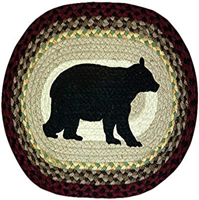 Earth Rugs 48-395 Cabin Bear Oval Placemat, 13 by 19-Inch