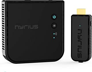 Nyrius Aries Prime Wireless Video HDMI Transmitter & Receiver for Streaming HD 1080p 3D Video & Digital Audio from Laptop,...