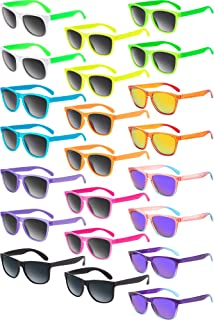 22 Pieces Retro Neon Sunglasses 80s Party Favor...