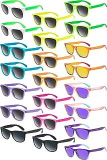 22 Piezas de Gafas de Sol Retro de Neón Gafas de Fiesta de Piscina Favores de Fiesta de los Años 1980 para Niños y Adultos Regalos de Fiesta