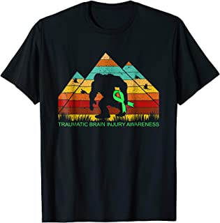 Bigfoot bring TRAUMATIC BRAIN INJURY ribbon funny t-shirt