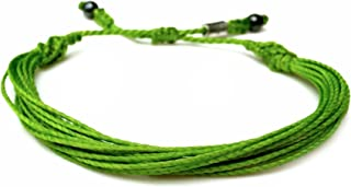 Lime Green Awareness Bracelet for Lyme Disease, Non Hodgkins Lymphoma, Mental Health and Muscular Dystrophy: Handmade Adjustable Cause Jewelry by RUMI SUMAQ