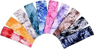 comprar comparacion Diademas de Atar-Teñir Diadema Elástica de Algodón Cinta Elástica de Yoga para Adolescentes Chicas Mujeres Adultos, Colore...