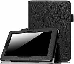 Fintie Folio Case for Fire HD 7 Tablet (2014 Oct Release) - Slim Fit Leather Standing Protective Cover with Auto Sleep/Wake Feature (Will Only Fit Fire HD 7 4th Generation 2014 Model), Black