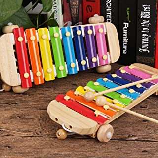 oAtm0eBcl IQ Builder |Challenging IQ Games丨2 in 1 8Key Wooden Pull Along Car Xylophone Kids Music Percussion Instrument Toy丨Mental Exercises for Sharp Young Minds - 100% Child Safe …