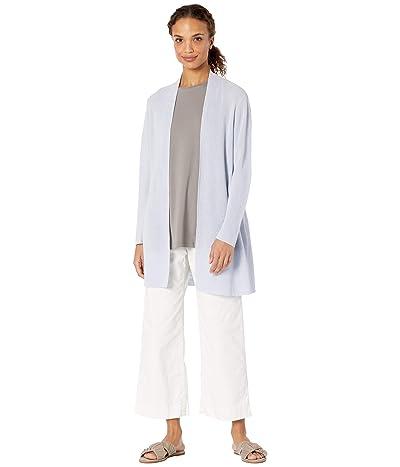 Eileen Fisher Organic Linen Cotton Long Cardi (India Sky) Women