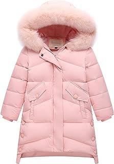IRELIA Girls Fur Hooded Parka Puffer Down Jacket Coat