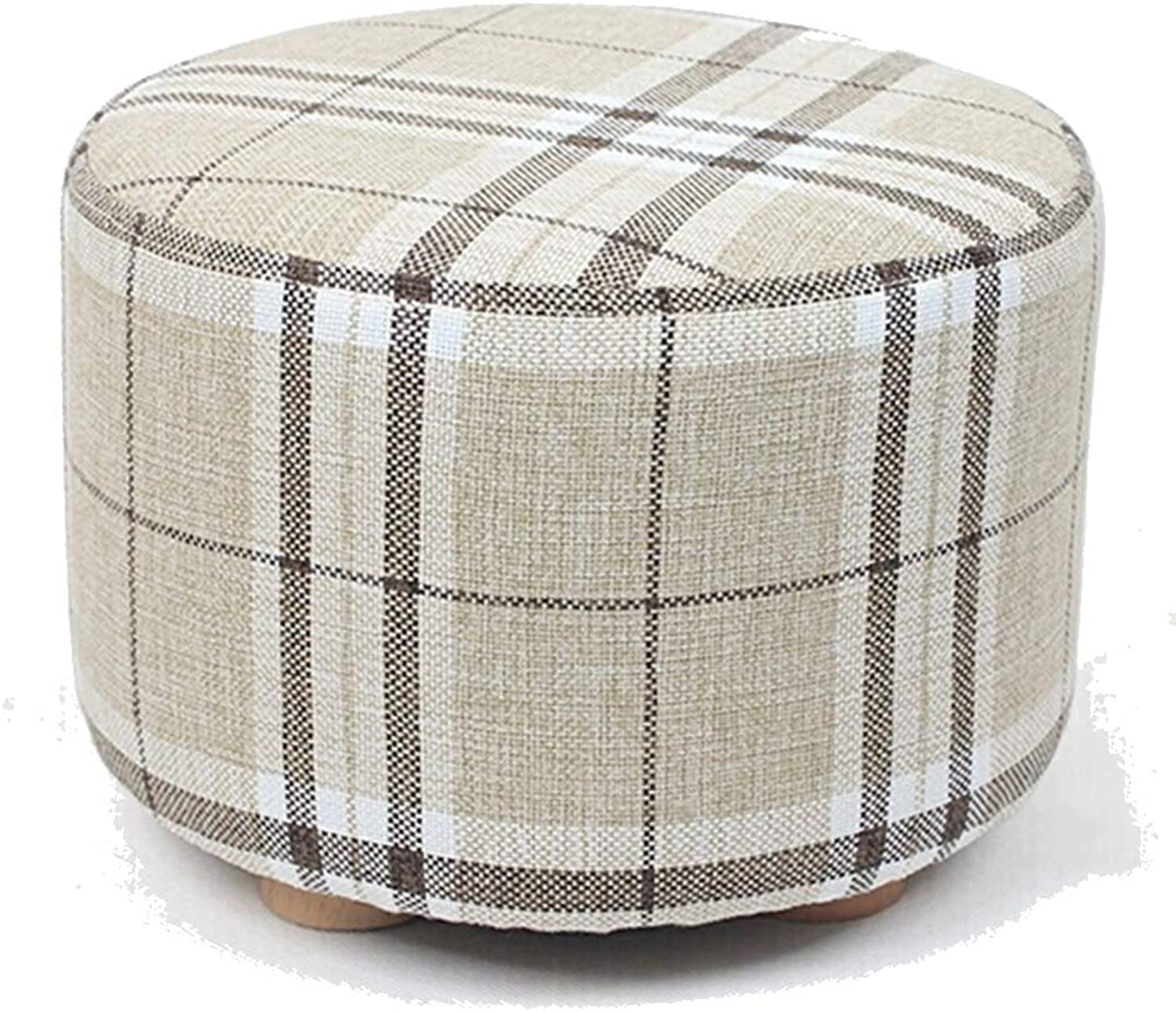 ZHAOYONGLI Stools Footstool Work Stool Step Stool Change shoes Cloth Round Small Sofa Wearing shoes Building Blocks Low Stool Geometry Soft Creative Solid Durable Long Lasting
