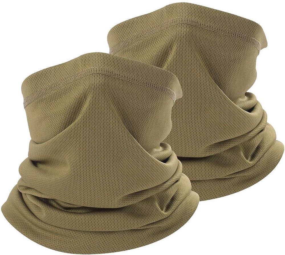 Coyote Brown Neck Gaiter tan face mask bandanas men cooling summer,half face covering women