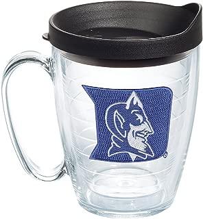 Tervis 1060807 Duke Blue Devils Logo Tumbler with Emblem and Black Lid 16oz Mug, Clear