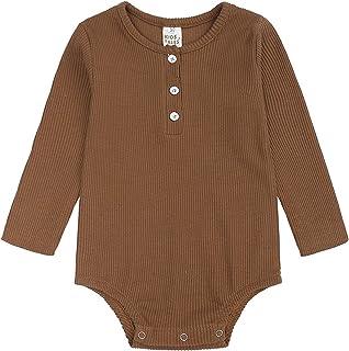 Neugeborenes Baby Strampler Bequemes MäDchen Overall Junge Einfarbig Gerippte Strumpfhosen Anzug Kleidung Strumpfhose Bluse Hoodie Top Shirt Pyjama Strampler 1-3 Jahre Alte Kinderkleidung