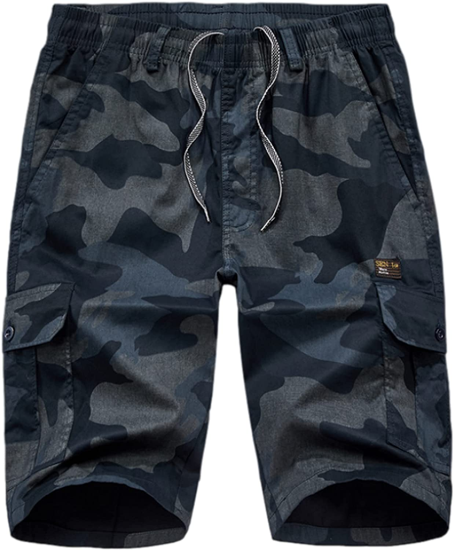 Wantess Men's Cargo Shorts Fashion Camouflage Printing Loose Large Size Casual