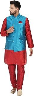 SKAVIJ Kurta Pyjama and Jacket (Waistcoat) 3-Piece Set Wedding Dress