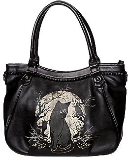 9b5e06d40c Sac à main noir occulte avec chats, branches et lune, occulte witchy