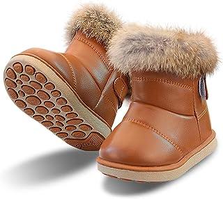 Stivaletti Bimba Scarpe Bambine Invernale Neve Stivale Fodera Calda Stivaletto Boots per Ragazze