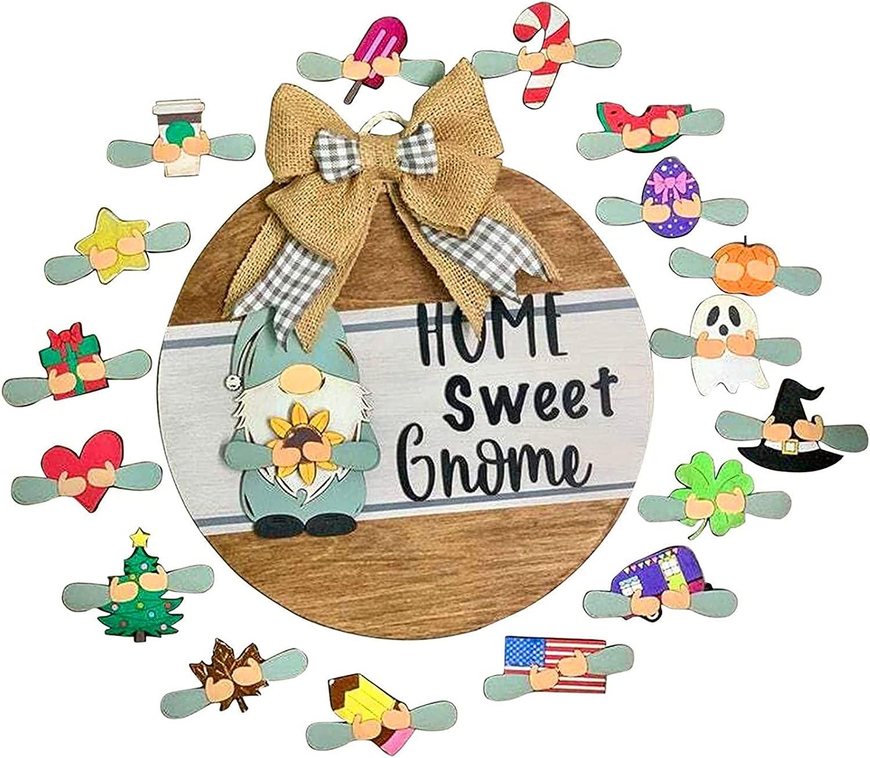 Overseas parallel import regular item sale Cute Door Hanger-Home Sweet Gnome Front Hang Welcome - Sign
